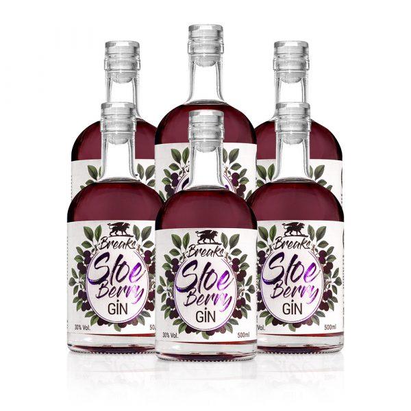 6er Set Breaks Gin 500ml Gin Frei W Hlbar